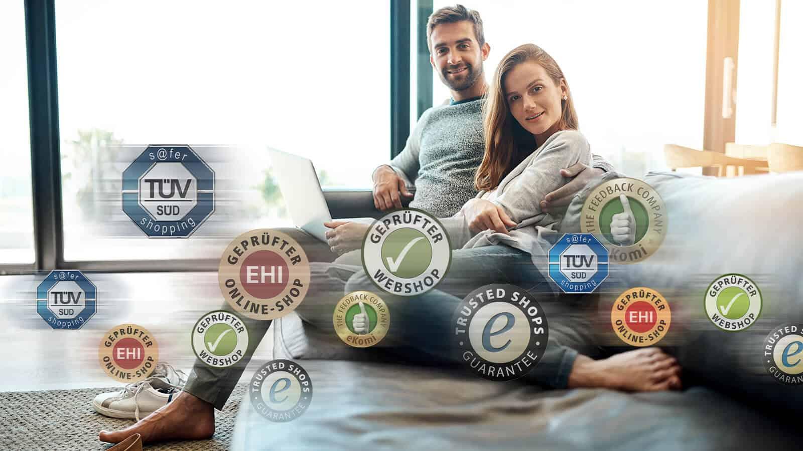 Die richtigen Trust-Elementen und Gütesiegel im E-Commerce